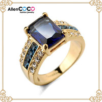 Italina FASHION Blue DIAMOND RINGS FOR WEDDING RING OF Gold Ring hot new products for 2015