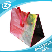 Wholesale PP Woven Full Color Laminated Tote Shopping Bag