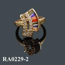 Joyeria Wholesale Fashion 2015 Rings Jewelry Gold Plated Engagement Wedding Ring