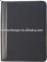 a4 leather portfolio with zipper closure