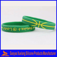 high quality silcone wrist bands, custom silicon hand bands