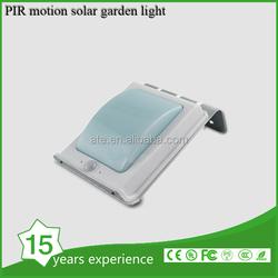 Outdoor PIR sensor led garden solar light with Weatherproof