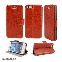 Huihuang professional top quality stand PU leather wallet case for iphone 5s