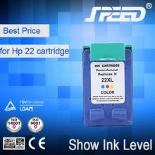 No Blinking ink cartridge for hp 21 22 21xl 22xl with CE Certifiecate