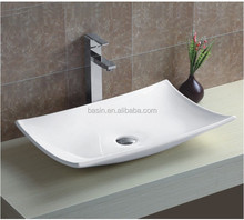 YJ9177 ceramic wash sink,rectangular wash basin,table top basin bathroom sink