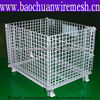 Galvanized rolling wire mesh container(manufacturer)