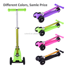 2015 new mini children kick scooter 4 wheeled foldable 120mm wheel china scooter