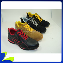 Colorful EVA/Rubber out sole Real Leather Sport Safety shoes 9287