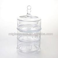 round glass jars and lids with tea coffee sugar