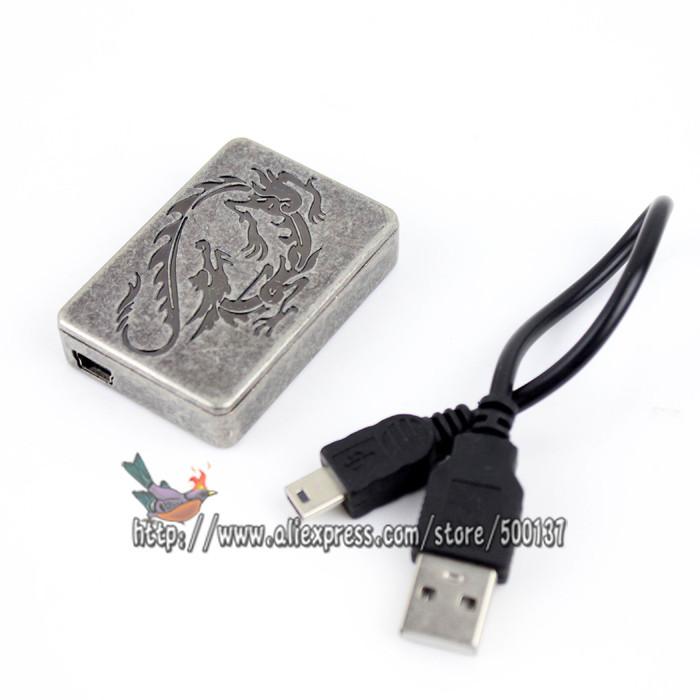 ถูก แกะสลักมังกรบินแบบWindproof USBแบตเตอรี่แบบชาร์จFlamelessซิการ์บุหรี่ไฟแช็ก
