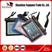 High quality PVC Waterproof Pouch For iPad mini Swimming