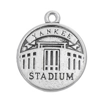Stylish Cheap Metal Alloy Antique Silver Plated Yankee Stadium Charms