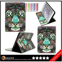 Keno 3D Image Protective Case for iPad Case, Fashion Vintage Cartoon Cute Design Flip Leather Smart Case for iPad Air