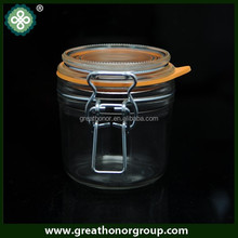 200ml round shape clip top jar foie gras jar with imported food grade silicone ring