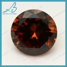 Dark coffee round synthetic cz gemstone, coffee color stones, wholesale coffee gemstone