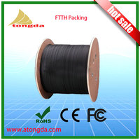 FTTH GPON Drop Outdoor cable 1 core 2 core G657A LSZH Factory price use to Aerial