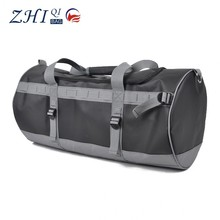 Custom mens practical waterproof pvc leather sport duffel bag gym bag for outdoor travelling