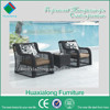 Best selling new design and good quality outdoor garden rattan furniture dining set 1 table with 2 chair