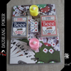 poker chip set for 2 candle six dice 2 deck No.98 club special beee playing cards in blister packaging