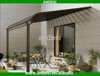 plastic roof polycarbonate garden shed aluminum structure
