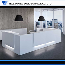 Incredible! Customize Solid Surface modern white dental reception desk