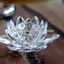 High Quality Clear Crystal Lotus Flower with Gift Boxby Amlong Crystal