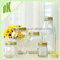 2015 new style glass buy mason jars with lids and straws ~~ perfect for home canning, candle making colorful mason jar with stem