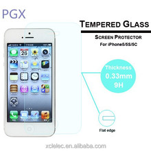 new design 0.33mm Tempered Glass Screen Protector For Iphone 5 Back Cover