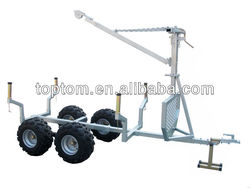 Hot sell ATV timber trailer with cargo bed