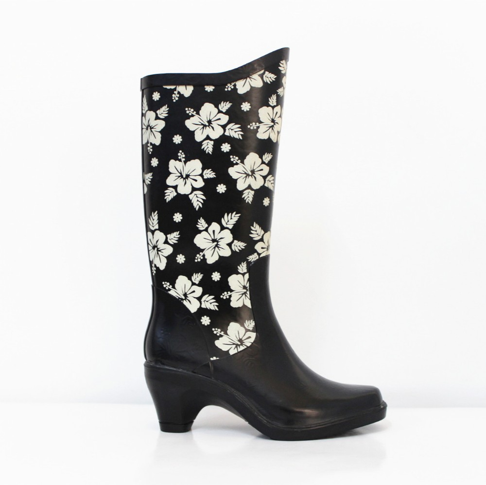 china supplier cheap high heel gumboots rubber boots