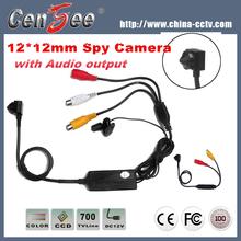 12*12mm 700tvl Clips HD Hidden Video Camera with Audio