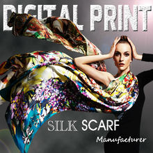 Bright colors - soft touching Silk Scarf & Poly Scarf & Cashmere Scarf