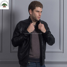 Cheap Washed PU Leather 100% Polyester Men Jacket