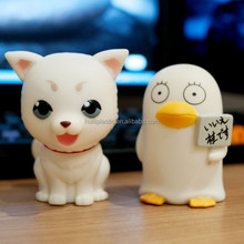 white puppy custom made vinyl toy, little puppy making vinyl toys, little dog make custom vinyl toys