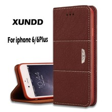 Xundd Leather Cheap Mobile Phone Case For iPhone 6,For iPhone 6plus Case