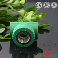 Pipe fitting manufacturers plastic pipe and fittings association ppr female tee (copper thread)