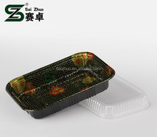 sakura embossing rectangular sushi to go box