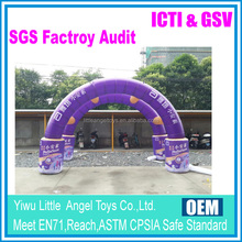Custom made with your logo advertising inflatable arch