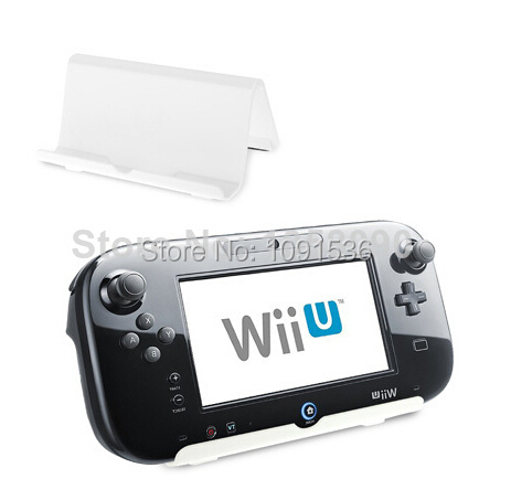 White ABS Plastic Support Cradle Stand Holder White For Nintendo Wii U Game Console For Phone for PS Vita 3DS Gamepad Console