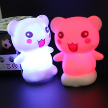 Alimal Shaped LED Novelty Lamp Night Light Colorful Changing Colors Decor