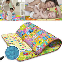 Baby Kids ldren Learning Math Two-sided Crawling Pad Beach Picnic Mat Outdoor Blanket Dampproof