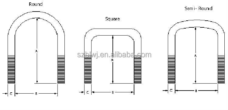u bolt standard sizes pdf