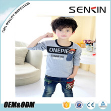 boys organic cotton t-shirts ,long sleeve Tops for children,baby clothes OEM