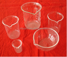 Laboratory glassware clear quartz beaker glass or quartz glass measuring beaker or quartz cup low form 50ml