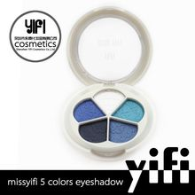 2015 new arrival! MISS-YIFI 5 colors matte color branded eyeshadow makeup palettes