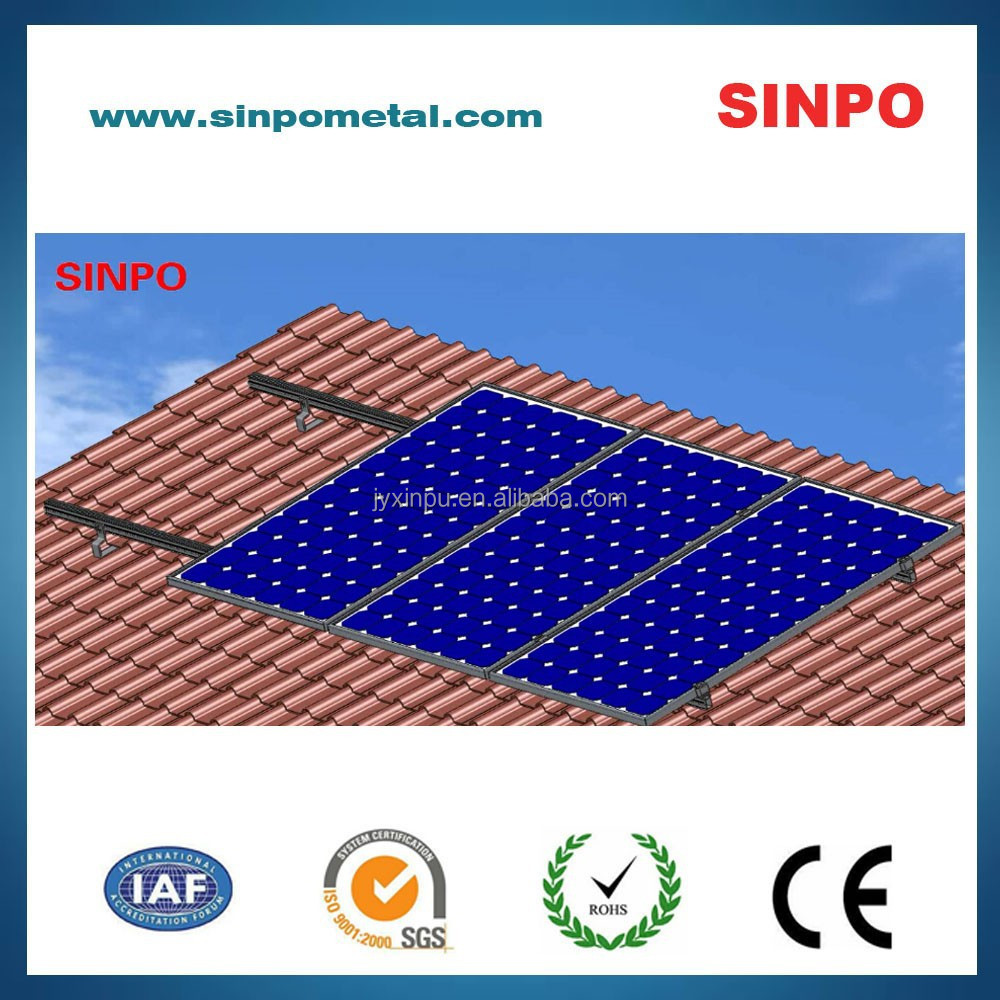 Solar photovoltaic panel for solar power system