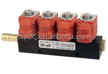 12V Auto CNG 4 Cylinder Valtek Injector For Red Color