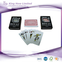 100 plastic playing cards royal