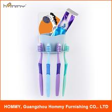 Cute sticker pad design good quality plastic DIY toothbrush&toothpaste holder set