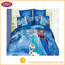China supplier Cotton reactive printing four-piece suit Wholesale comforters children frozen anna elsa bedding set